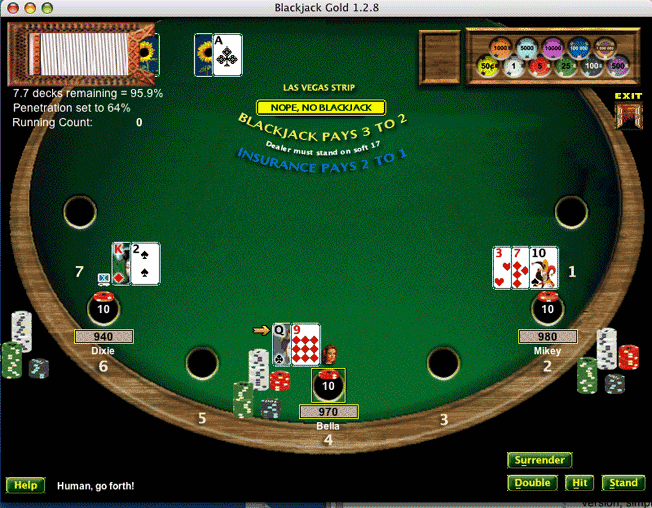 Blackjack Gold Screenshot