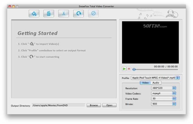 SnowFox Total Video Converter for Mac Screenshot 3