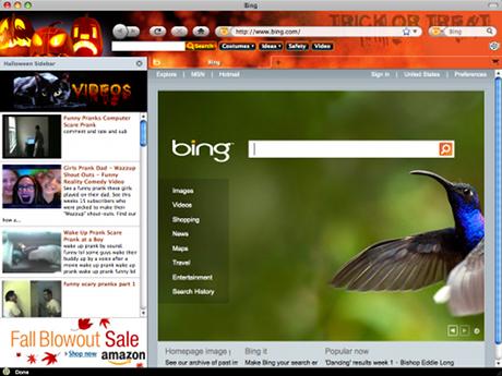 Halloween 2010 Firefox Browser Theme Screenshot