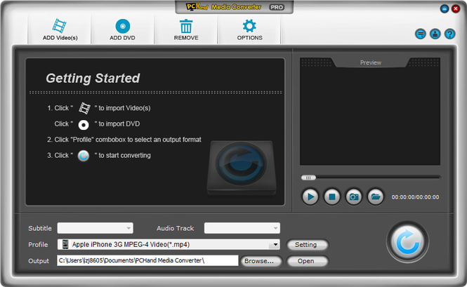 PCHand Media Converter Pro Screenshot