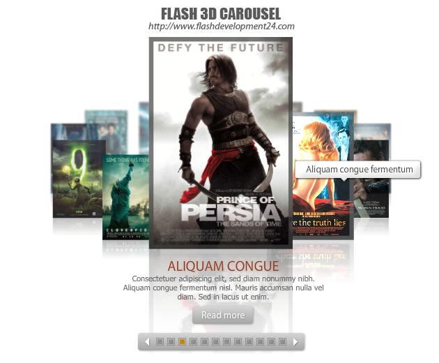 Flash 3D Carousel DW Extension Screenshot