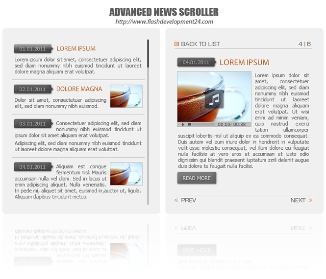 Advanced News Scroller DW Extension Screenshot