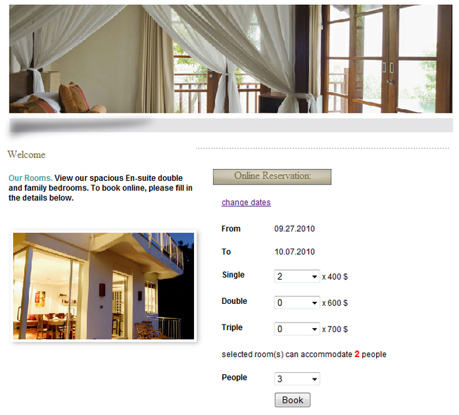 Web-Based Room Booking System Screenshot 1