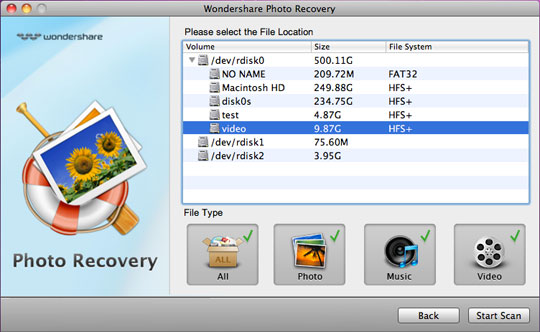 Wondershare Photo Recovery for Mac Screenshot 1