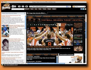 Oregon State Beavers Firefox Theme Screenshot 1