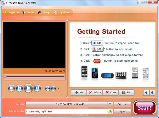XFreesoft DivX Converter Screenshot