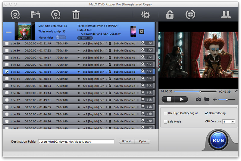 MacX DVD Ripper Pro Screenshot 2