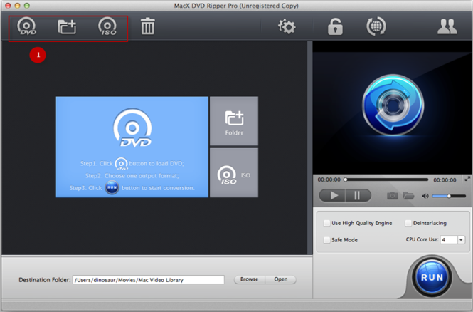 MacX DVD Ripper Pro Screenshot 1