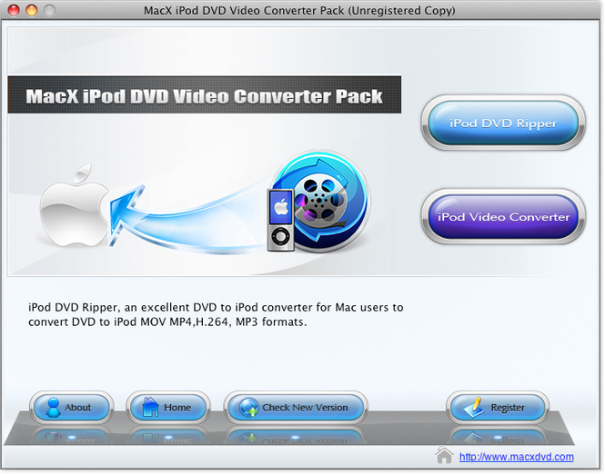 MacX iPod DVD Video Converter Pack Screenshot 1