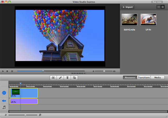 iSkysoft Video Studio Express for Mac Screenshot 2