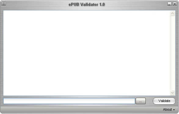 ePUB Validator Screenshot