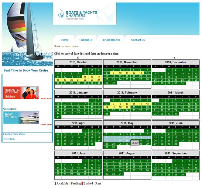 Online Rental System - Multi Day Booking Screenshot 1