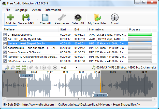 Free Audio Extractor Screenshot
