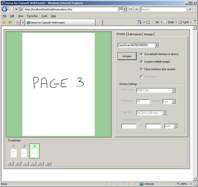 WebTwainX Screenshot 1