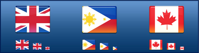 All-in-One Country Flag Icon Set Screenshot 1