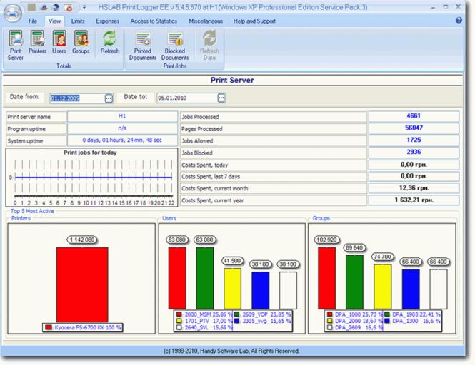 HSLAB Print Logger EE Screenshot