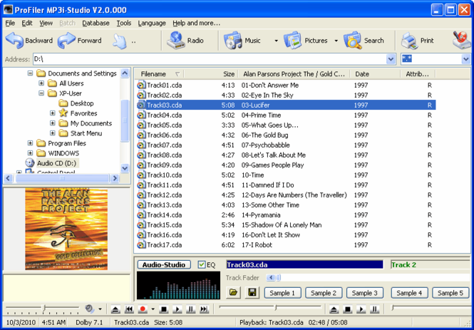 ProFiler MP3i Screenshot