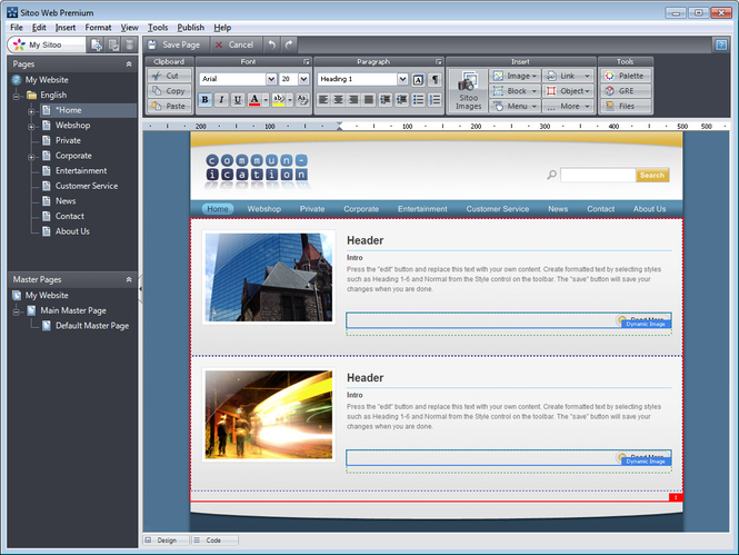Sitoo Web Screenshot 1