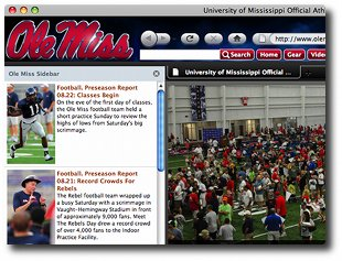Ole Miss Internet Explorer Browser Theme Screenshot