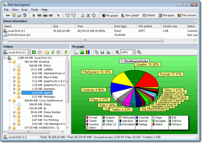 Disk Size Explorer Screenshot