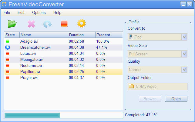 FreshVideoConverter Screenshot