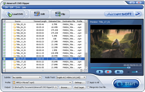 Daniusoft DVD Ripper Screenshot 1