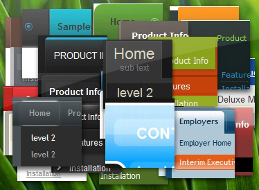 jQuery Drop Down Menu Screenshot