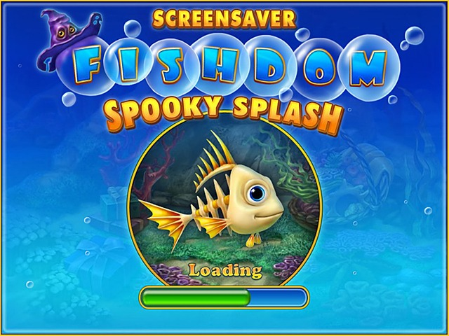 Free Fishdom: Spooky Splash Screensaver Screenshot 1