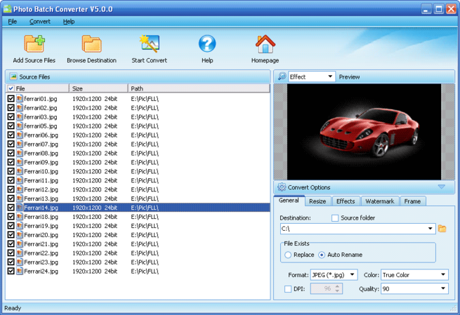 Photo Batch Converter Screenshot 1