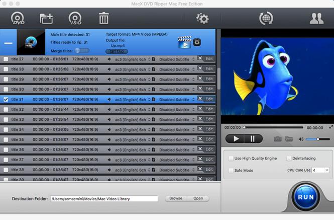 MacX DVD Ripper Mac Free Edition Screenshot