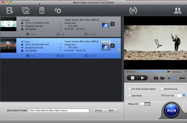 MacX Video Converter Free Edition Screenshot 3