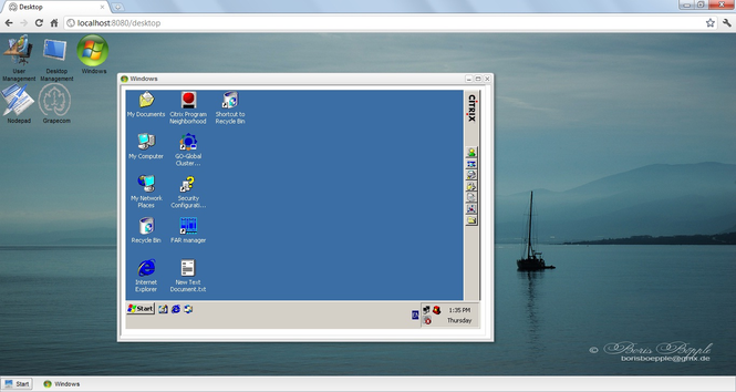 Enterprise desktop Screenshot