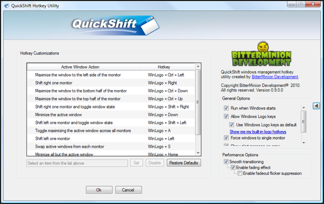 QuickShift Screenshot
