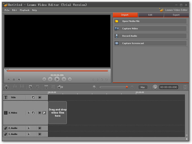 Leawo Video Editor Screenshot