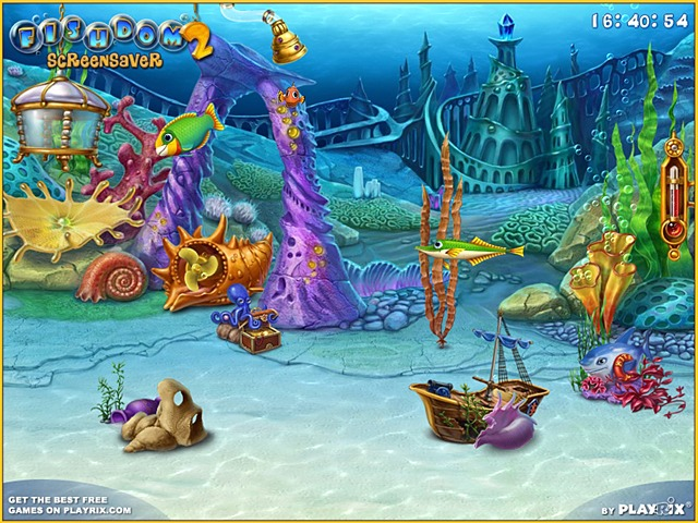 Free Fishdom 2 Screensaver by Playrix Screenshot