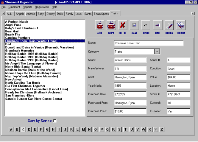 Ornament Organizer Screenshot 1
