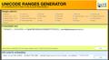 Unicode range generator 1