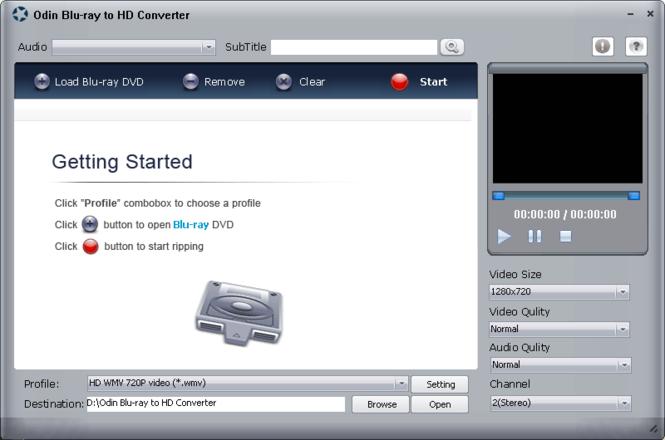 Odin Blue Ray to HD Ripper Screenshot