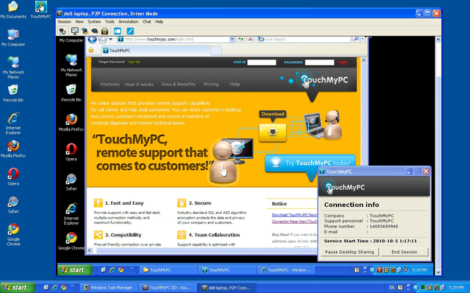TouchMyPC Screenshot 1