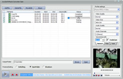bvcsoft iPhone Video Converter Screenshot
