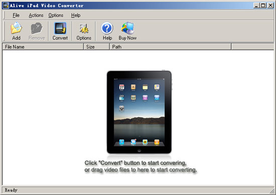 Alive iPad Video Converter Screenshot