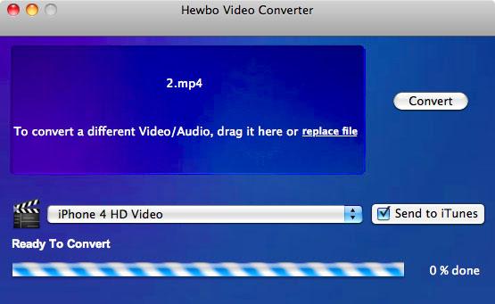 Hewbo Video Converter Screenshot