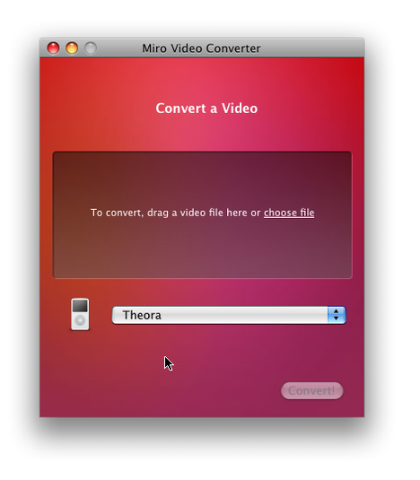 Miro Video Converter Screenshot 1