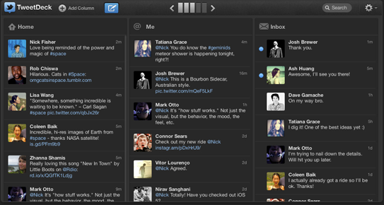 TweetDeck Screenshot 1