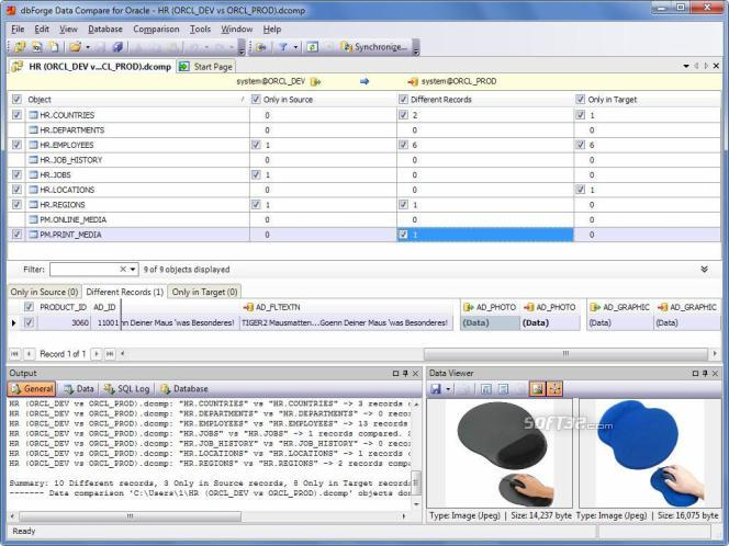 dbForge Data Compare Express for Oracle Screenshot 3