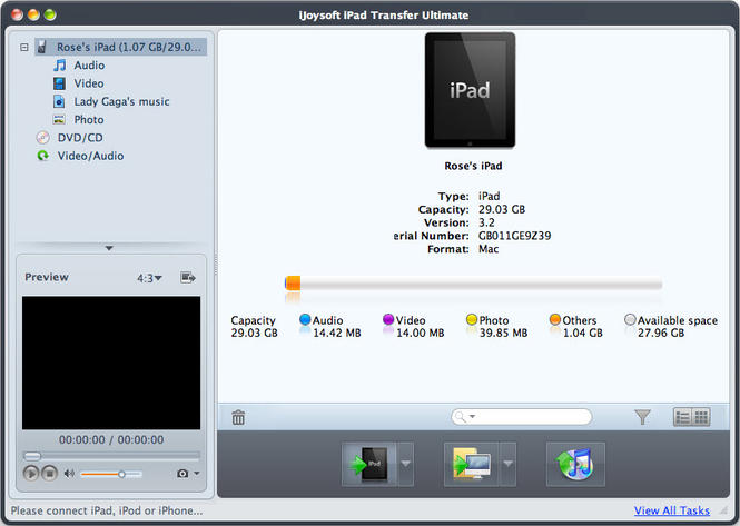 iJoysoft iPad Transfer Ultimate for Mac Screenshot 1