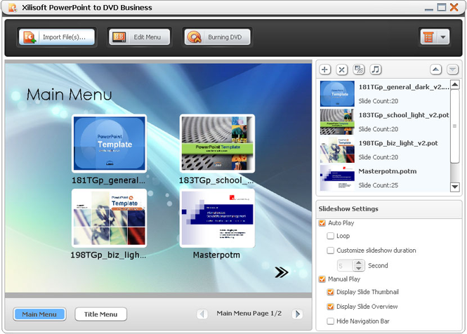 Xilisoft PowerPoint to DVD Personal Screenshot 1