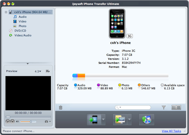 iJoysoft iPhone Transfer Ultimate Mac Screenshot