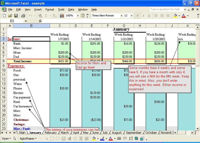 Basic Home Budget Screenshot