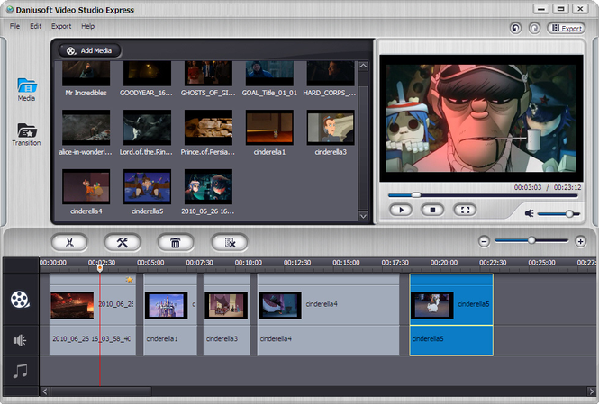 Daniusoft Video Studio Express Screenshot
